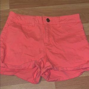 Plain Peach Jean Shorts